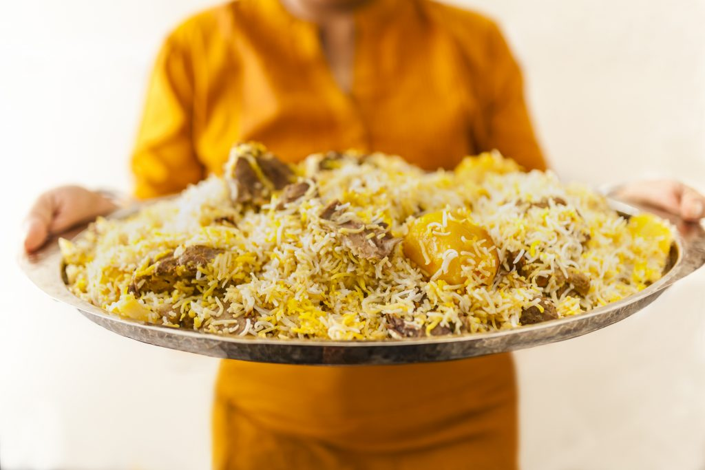Reisplatte mit Hühnchen Asma Khan