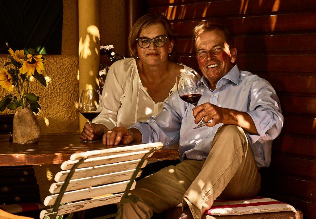 Regina Stigler mit ihrem Mann