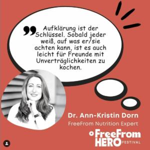 Dr. Ann-Kristin Dorn, Free From Hero Festival, Medienpartner Culinary Ladies
