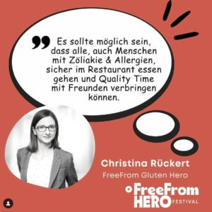Christina Rückert, Free From Hero Festival, Medienpartner Culinary Ladies
