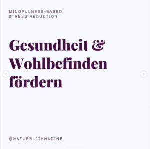 MBSR Kurs Nadine Hüttenrauch, Cullinary Ladies, Gesundheit