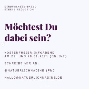 MBSR Kurs, Nadine Hüttenrauch, Culinary Ladies, dabei sein